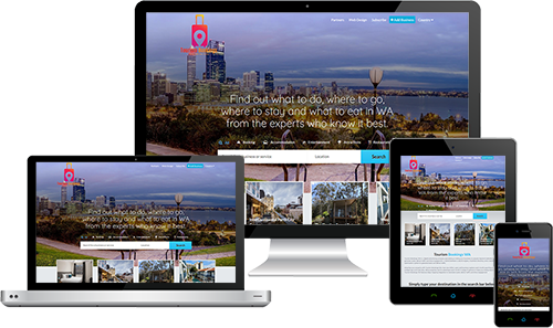 Tourism Bookings WA displayed beautifully on multiple devices