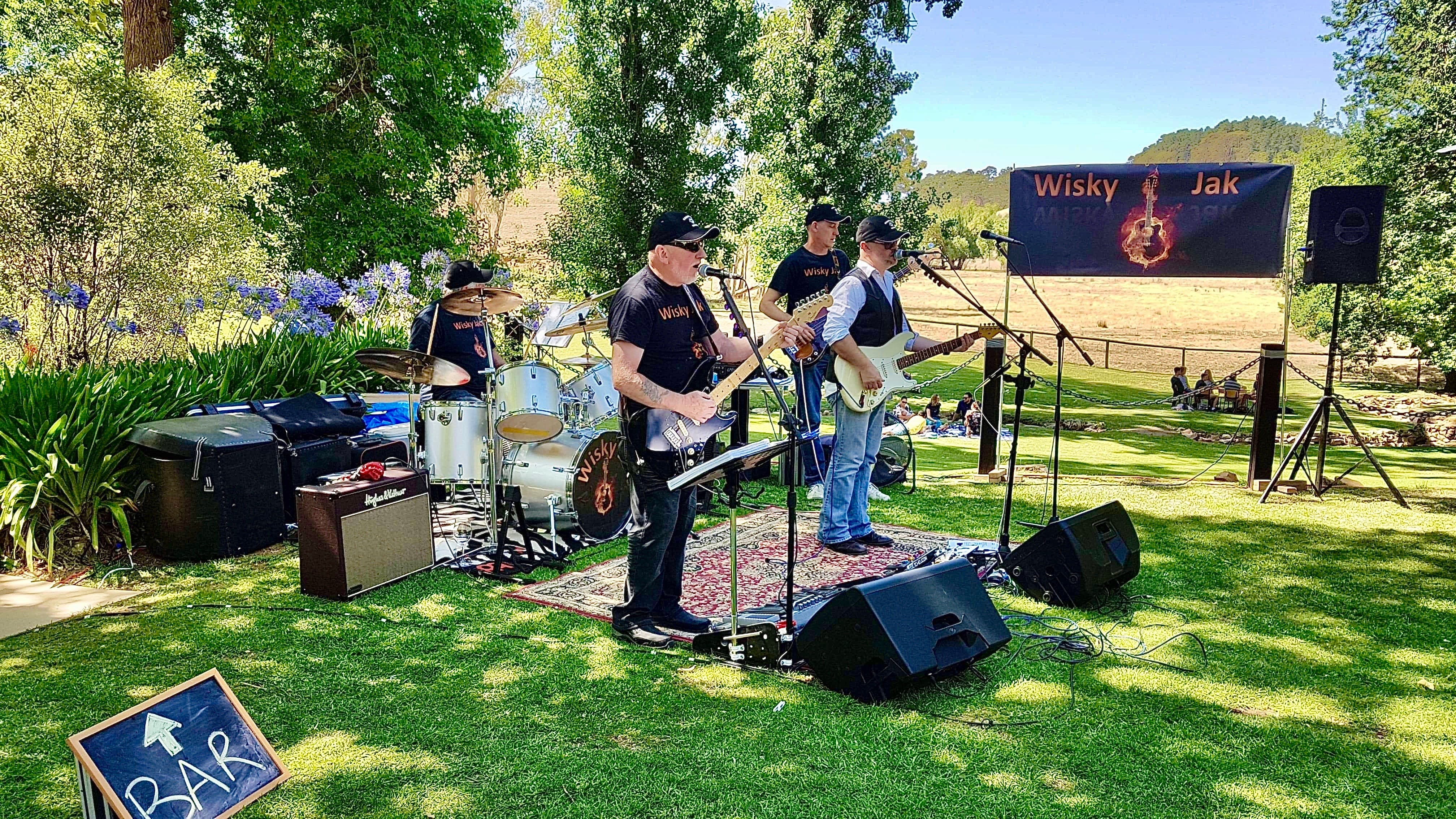 Angas Plains Wines Live in the Vines with the band -Wisky Jak - Tourism Bookings WA