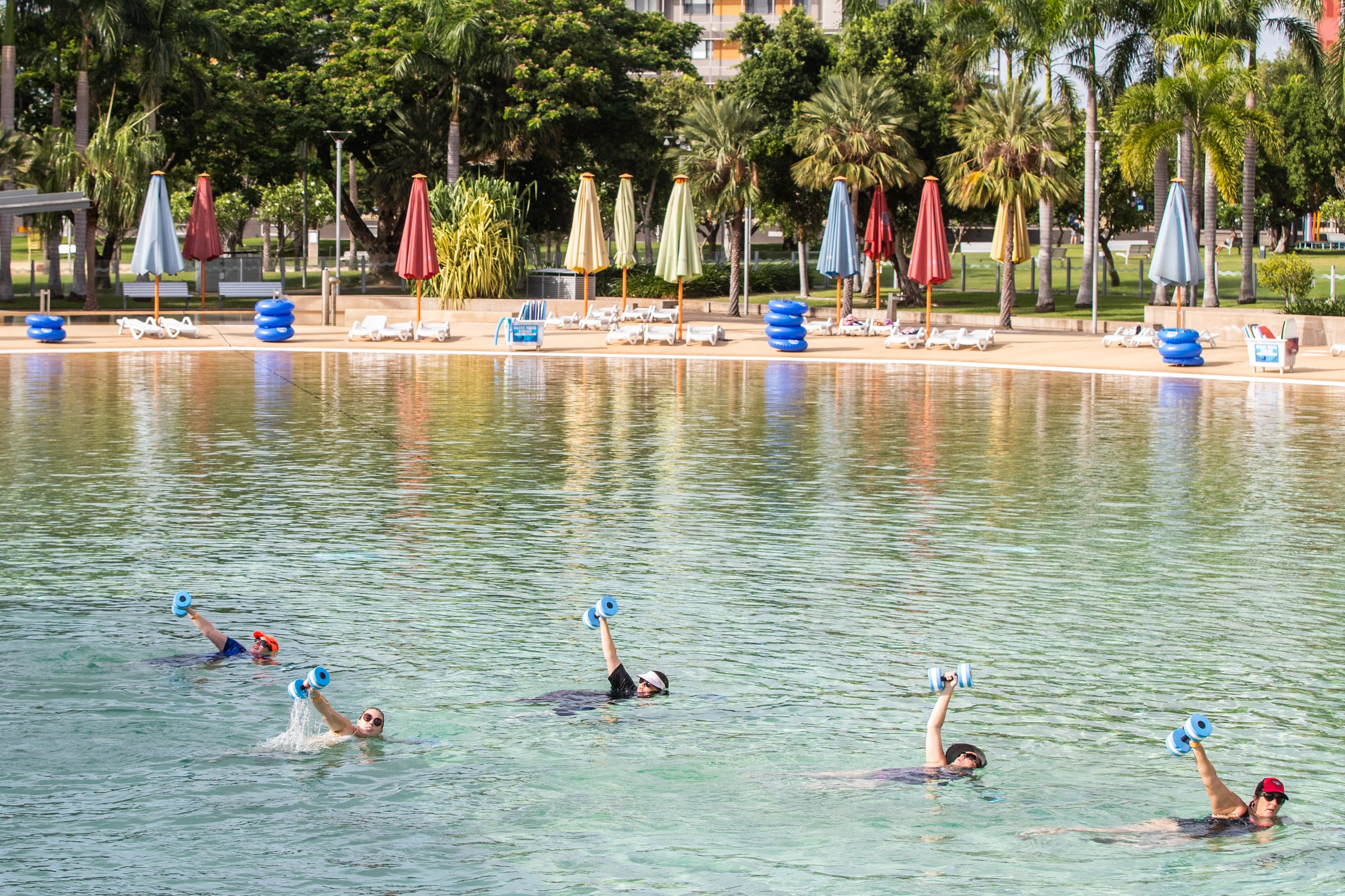 Aqua fitness in the Wave Lagoon - Tourism Bookings WA